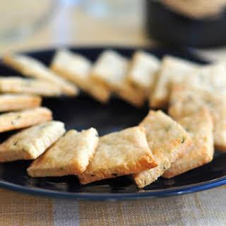Rosemary Goat Cheese Crackers.