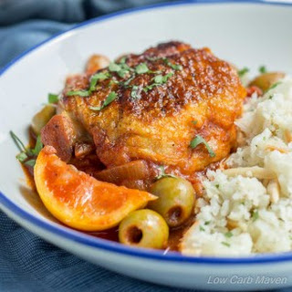 Easy Moroccan Chicken with Lemons and Olives