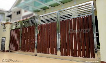 Photo: Stainless Steel with Aluminium Panel (wood texture)