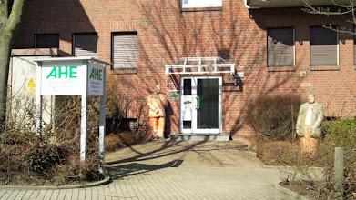Photo: Hauseingang Nielandstraße 36 in Schmandbruch (Gewerbegebiet Nielande).