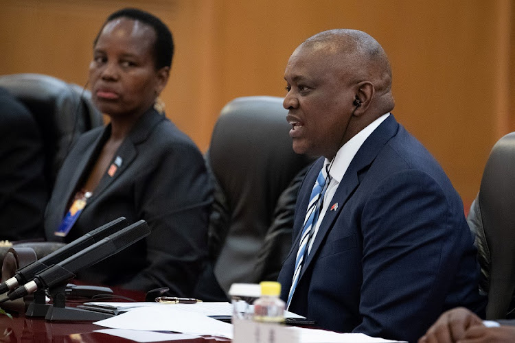 President of Botswana Mokgweetsi Masisi during a visit to China on August 31 2018. Picture: ROMAN PILIPEY/via REUTERS