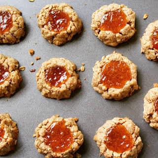 Vegan Gem Thumbprint Cookies.