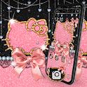 Cute Kitty Bowknot Glitter Launcher Theme 💖 icon
