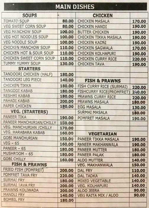 Harvic menu 1