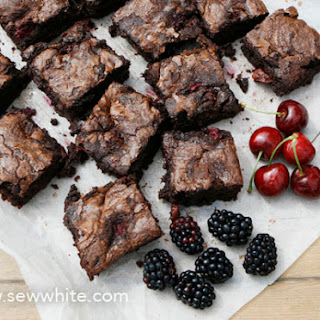 Black Forest Chocolate Brownies.