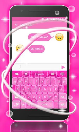 無料个人化Appのキーボードピンクハート|記事Game