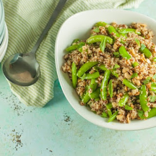 Sugar Snap Pea and Cashew Quinoa Bowl