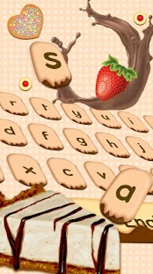 Yummy Cheese Cake keyboard Theme - náhled