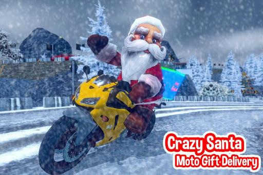 Foto do Crzay presente moto santa