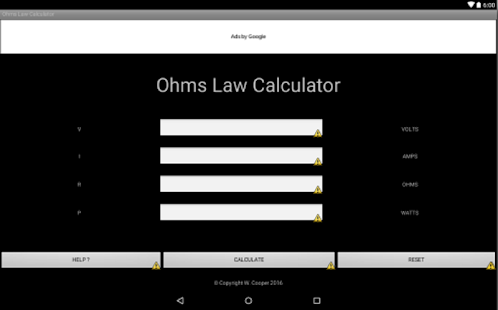 Ohms Law Calculator Apps On Google Play