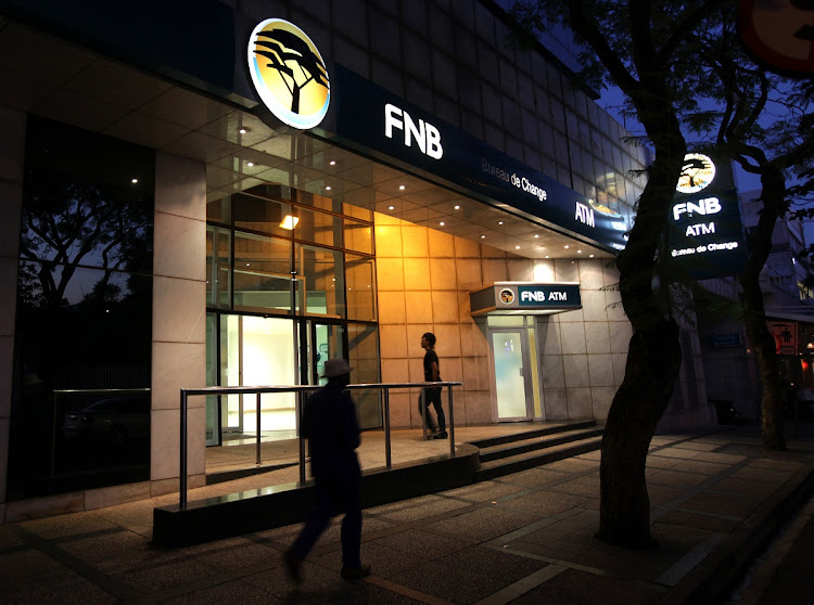 An FNB branch in Rosebank, Johannesburg. Picture: SUNDAY TIMES