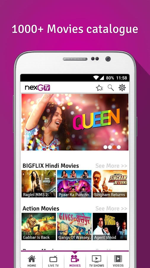 nexGTv Live TV Movies Cricket- screenshot