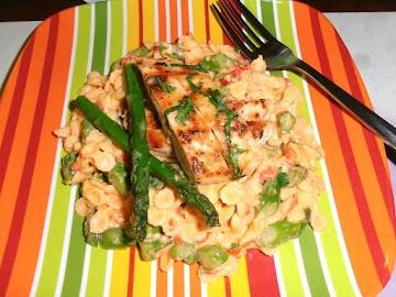 Spicy Pimento Cheese Asparagus Chicken Pasta Salad Recipe
