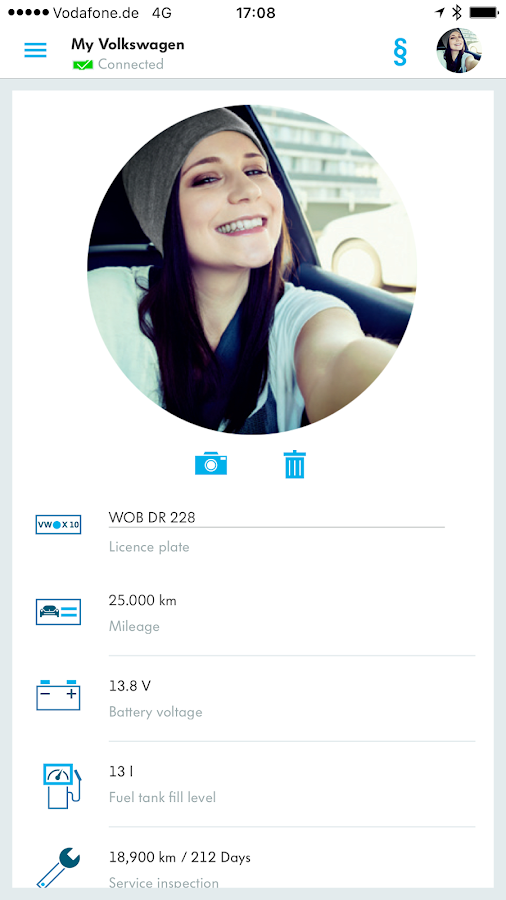 Volkswagen Connect- screenshot