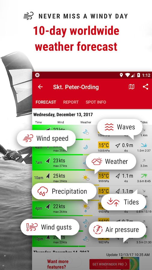 Windfinder - weather & wind forecast- screenshot