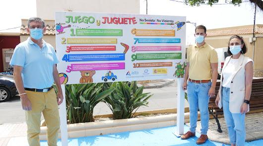 El parque infantil de la barriada de Puente del Río se renueva