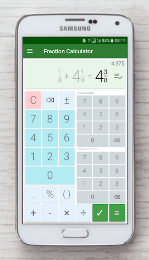 Fraction calculator: easy solve fractions problems 1.27 screenshots 6