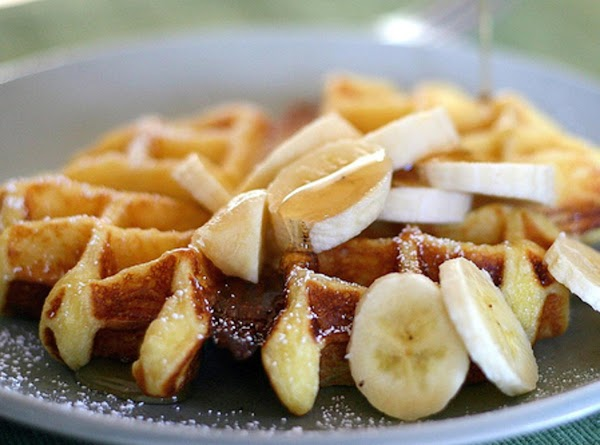 Buttermilk Waffles With Grilled Fruit  - To Die For Recipe