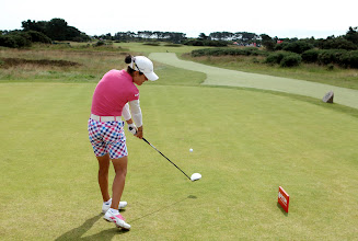 Photo: CARNOUSTIE, SCOTLAND - JULY 29:  Dewi Claire Schreefel of the Netherlands tees off on the 12th hole during the second round of the 2011 Ricoh Women's British Open at Carnoustie on July 29, 2011 in Carnoustie, Scotland. (Photo by Warren Little/Getty Images)