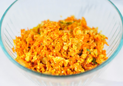 carrot egg masala