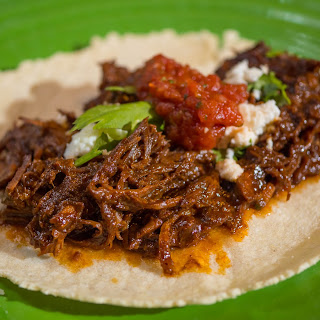 Pressure Cooker Boneless Beef Short Rib Tacos with Dried Chile Pepper Sauce