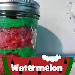 Watermelon Cupcake Jars -DIY Dessert