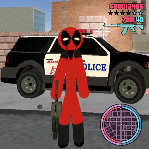 Super Stickman Rope Hero Strange Gangster Vegas