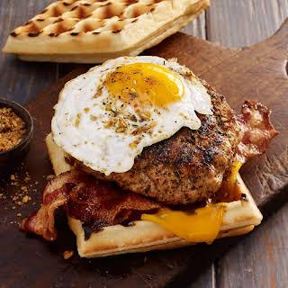 Smoky Maple & Sage Breakfast Pork Burger.