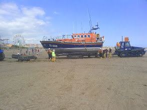 Photo: The Lifeboat ready to be chained and towed back to the station.