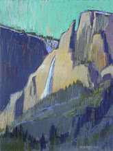 Photo: Yosemite Falls, Northern View, pastel by Nancy Roberts, copyright 2014. Private collection.