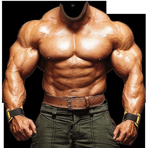 Muscular Man Body Photo Suit
