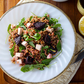 Farro Salad with Arugula, Beets, and Ricotta Salata