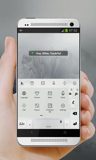 玩免費個人化APP|下載真っ白な TouchPal app不用錢|硬是要APP