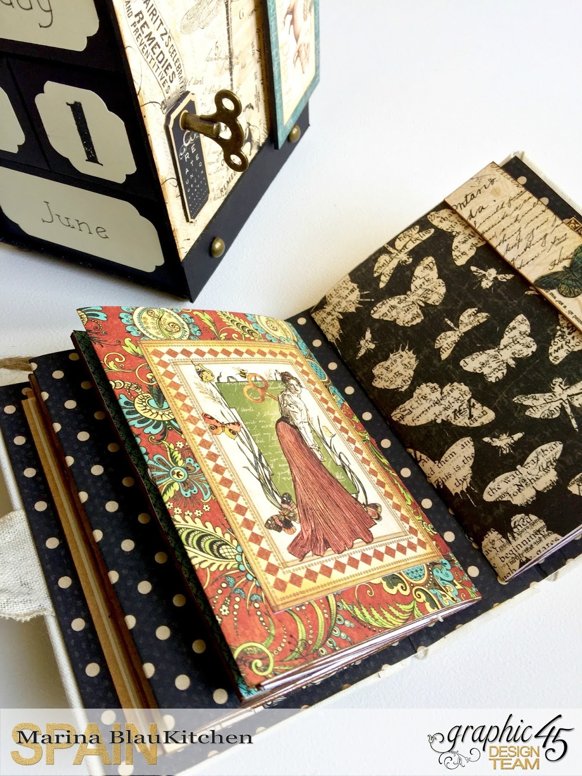 Album Binding Olde Curiosity Shoppe Tutorial by Marina Blaukitchen Product by Graphic 45 photo 12.jpg