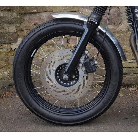 Front Mudguard/Fender- Spoke Wheels - Polished Aluminium