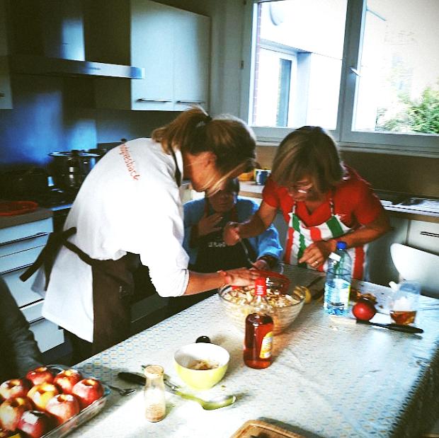 Préparation du déjeuner à L'Arche à Lille