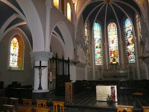 Photo: Autel et ambon feuille d'or et fusing - Eglise de Watten
