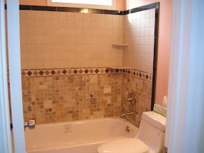 Photo: Hallway bathroom w/custom tile work
