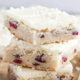Easy Cranberry White Chocolate Cookie Bars