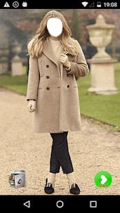Women Winter Long Coat - náhled