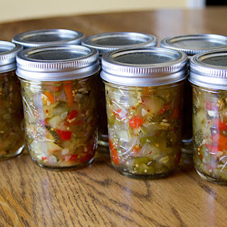 Sweet & Spicy Zucchini Relish for National Can-It-Forward Day.