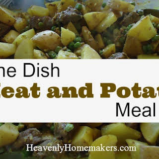 Simple One Dish Meat and Potato Meal.