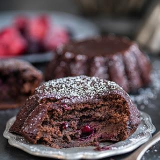 Black Bean Brownies With Red Berries