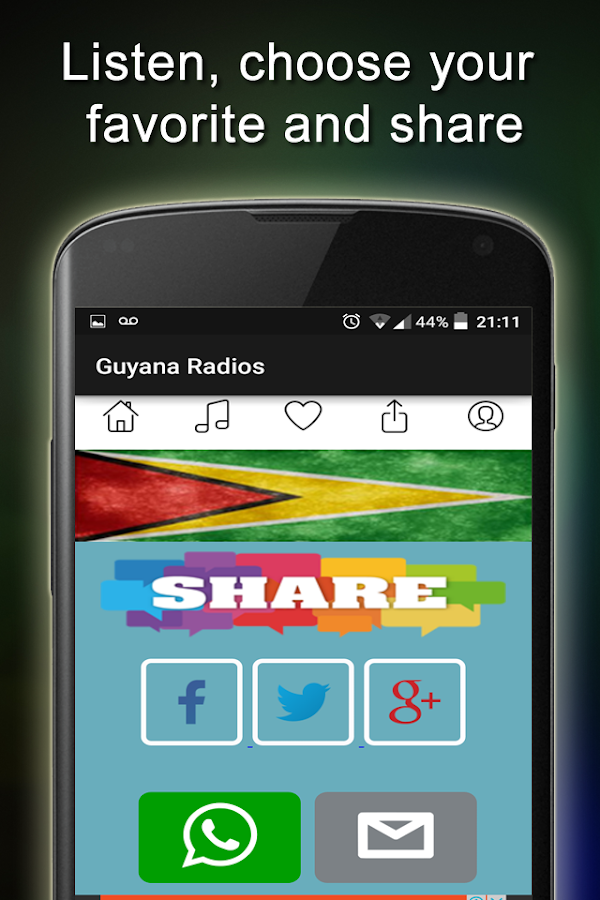 Guyana Radio Stations- screenshot