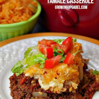 Slow Cooker Tamale Casserole.