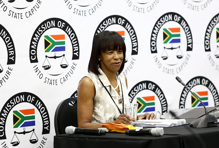 Cheryl Carolus at the state capture commission of inquiry on November 29 2018.