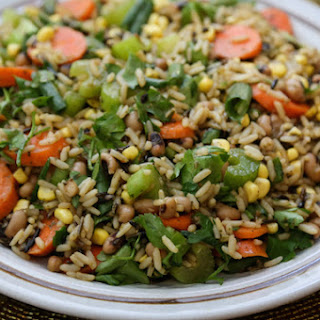 Wild Rice Salad with Corn and Black-Eyed Peas.