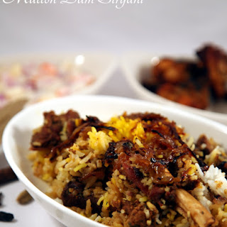 Hyderabadi Mutton Dum Biryani.