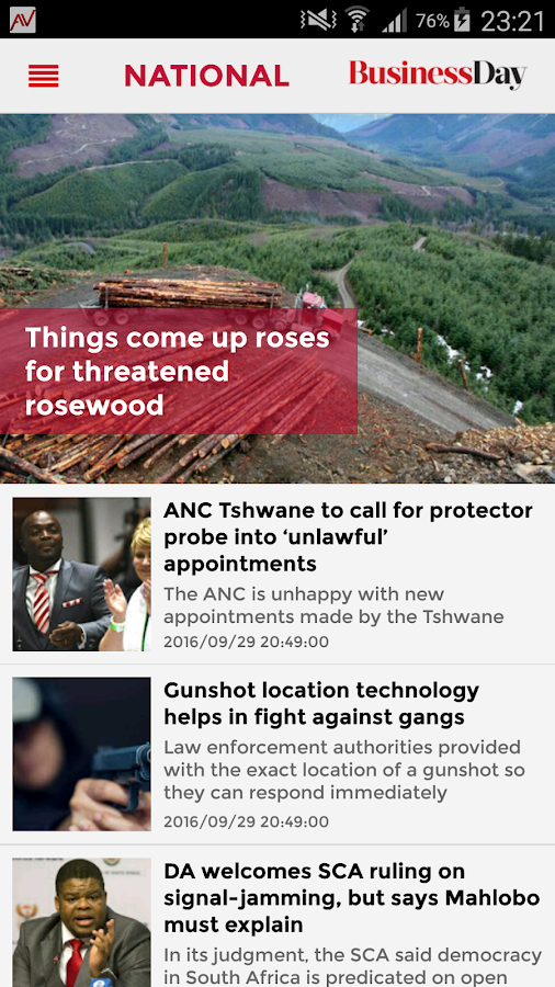 Business Day SA- screenshot