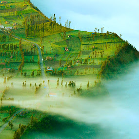 Cloudy Morning by Alexander Nainggolan - Landscapes Mountains & Hills ( #bromo #cloudy #pananjakan #landscape #indonesia #hills #misty, relax, tranquil, relaxing, tranquility,  )